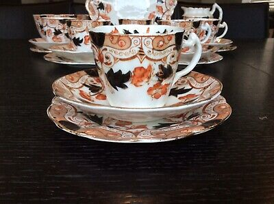 Antique Teaset Imari Style Colours.21 Piece • 30£