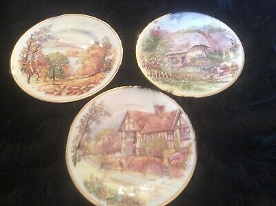 3 Fenton Bone China Decretive Plates • 6.99£