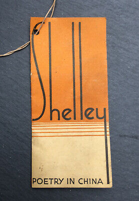 Rare Shelley China Shelley Poetry In China Price List / Label C1930 • 59£