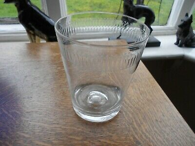Antique Wheel Engraved Hand Blown Beer Glass / Tumbler. • 30£