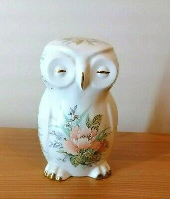 Vintage Fenton China Company English Bone China Floral Owl Ornament • 0.99£