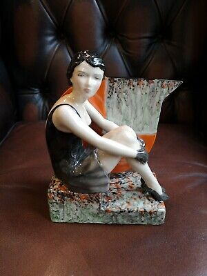 Unique Peggy Davies Art Deco Lady Figurine 'Back In Time'  • 185£
