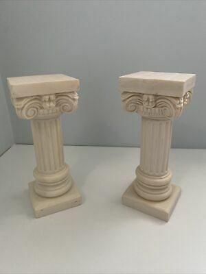 Pair Of Corinthian Alabastor Columns • 5£