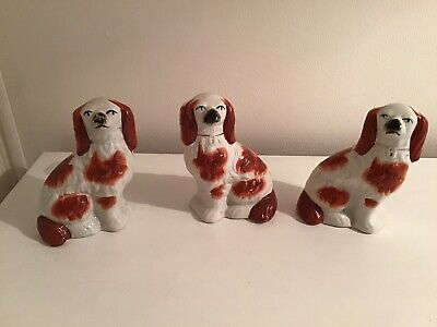 Staffordshire Dogs (Set Of 3) • 5.50£