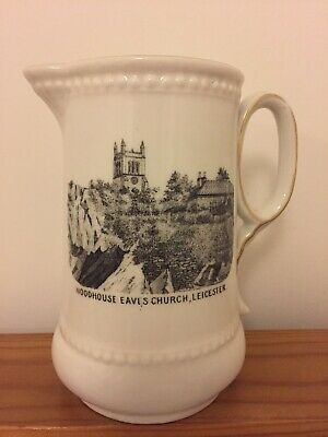 Woodhouse Eaves Church - Leicester - Vintage Crested Milk Jug • 6£