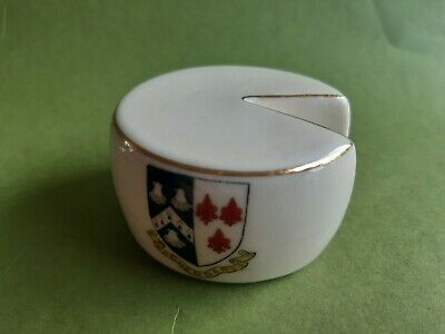 Model Of A Cheddar Cheese Round (arcadian) - Cheddar - Crested China • 14.99£
