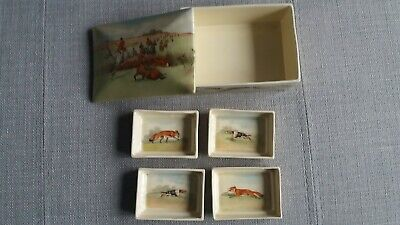 Royal Doulton Fox Hunting - Cigarette / Trinket Box With 4 Dishes  RARE - #2 • 500£