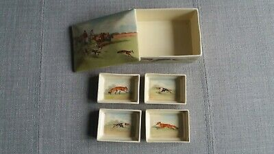 Royal Doulton Fox Hunting - Cigarette / Trinket Box With 4 Dishes  RARE - #3 • 500£