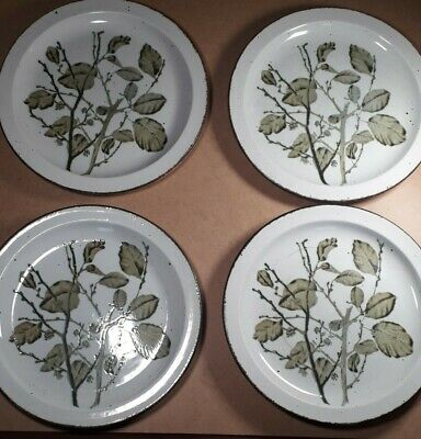 Midwinter Greenleaves Stonehenge Oven To Table Dinner Plates 26 Cm Diameter. X 4 • 19.99£