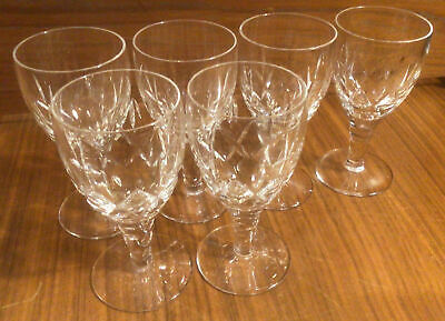 Set Of 6 Stuart Crystal Cut Glass Sherry Port Glasses 4.25 Inches Tall • 19.99£