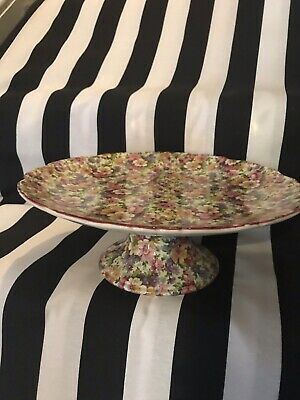 James Kent Old Foley Cake Plate On Stand • 9.99£