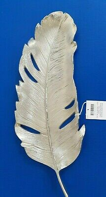 Laura Ashley Feather Silver Effect Large Trinket Tray, Unused, 43cms In Length • 10£