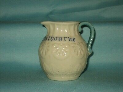 Goss 1st Period Jug With Turquoise Handle 'From Eastbourne' • 14.99£