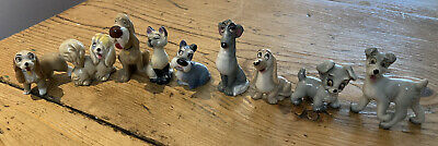 Wade Whimsies Porcelain Disney Lady And The Tramp Figures Set Of Nine • 10£