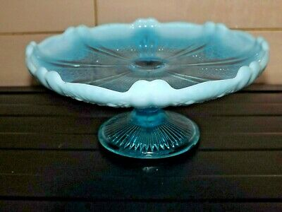 Davidson Blue Pearline Comport/tazza With Reg Number Excellent • 12.99£