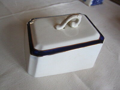White And Blue Cheese Dish Cover • 3.99£