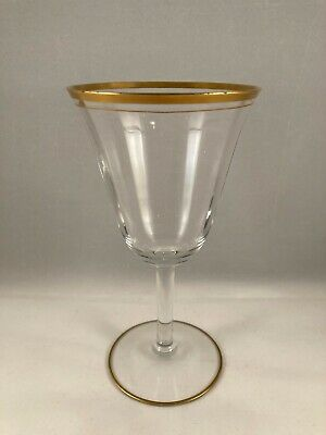 Vintage Gold Encrusted Crystal Water Glass, Tiffin-Franciscan, Rims Of Gold • 4.41£
