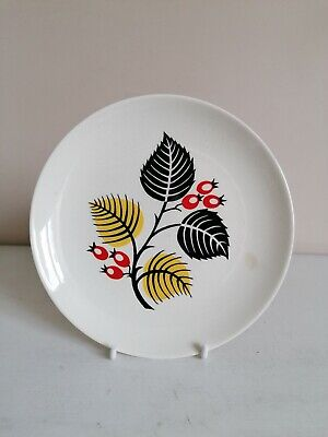 Retro Wade Abstract  Leaf & Berry  Tea/Side Plate  • 3.99£