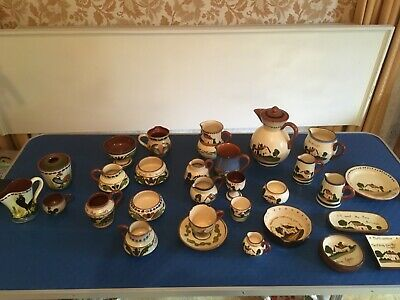 VINTAGE WATCOMBE DEVON TORQUAY LONGPARK POTTERY  28 Pieces • 45£