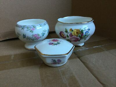 Coalport Box And Two Bowls • 9.25£