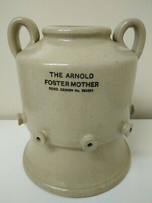 The Arnold Foster Mother - Stoneware Piglet / Lamb Animal Feeder Or Planter • 47£