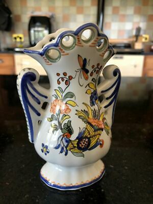 Vintage Hand Made French Pottery Vase • 6.50£