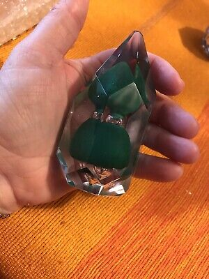 Vintage Wedgewood Faceted Glass Paperweight • 15£