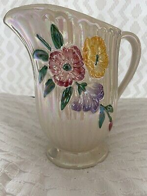 Vintage Lustre Flowered Jug  • 0.99£