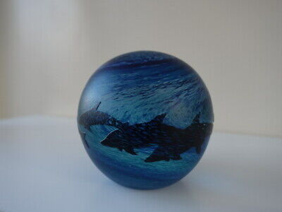 Beautiful Malcolm Sutcliffe Art Glass Dolphin Paperweight  • 50£