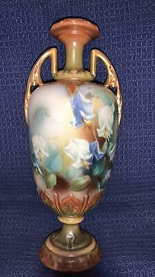 Royal Worcester Style Hand Painted Flowers  Vase • 54£