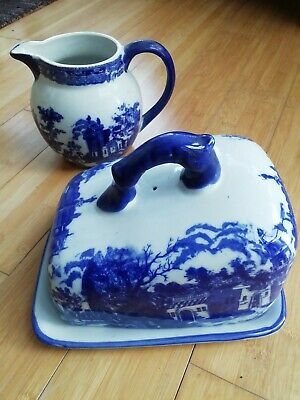 Victoria Ware Ironstone Chess Dish And Pitcher • 15£