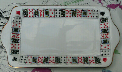 QUEENS Cut For Coffee Design Fine Bone China Plate Playing Card 12inch • 10£