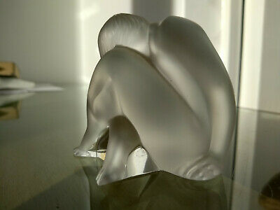 Original Lalique Frosted Glass Figurine Crouched Woman • 42.88£
