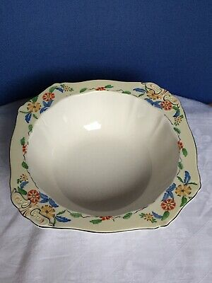 Vintage China - Large, Deep Alfred Meakin Fruit Bowl. Hand Decorated. England. • 12.99£