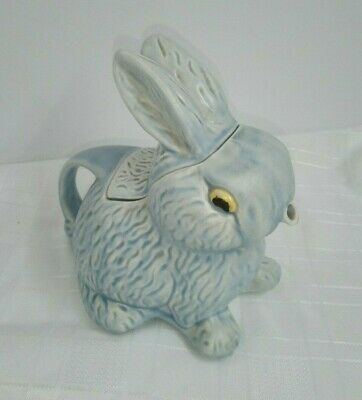 Vintage 1930's Sylvac Blue Bunny Teapot In Great Condition • 41£