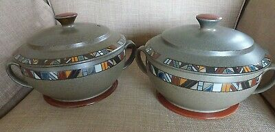 Denby 'marrakesh' Covered Serving Dishes (x2) • 28£