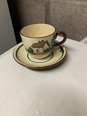 Dartmouth Pottery Large Cup And Saucer • 8.50£