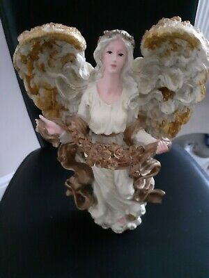 A Stunning Resin Ornamental Cream & Gold Coloured Angel • 12.99£