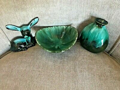 Canadian Blue Mountain Pottery Bowl, Dish And Figure • 14.99£