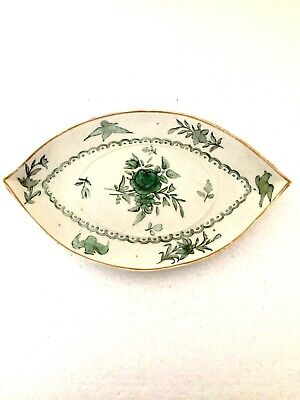 Worcester Giles Decorated Unusual Mix Of Flowers & Swifts Boat Shape Dish C1780 • 9.99£