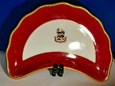Antique 19th Armorial Plate  James Green & Nephew C.1868 • 27.99£