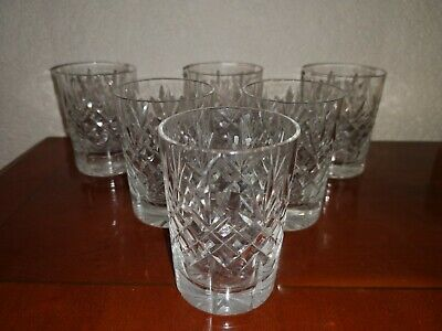 QUALITY LEAD CRYSTAL CUT GLASS 125ML TUMBLERS SET OF 6 - 3 1/4  (8 Cm) TALL • 16£