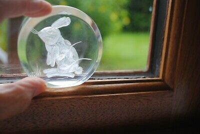 Rabbit Etched Into Glass.  • 2.50£