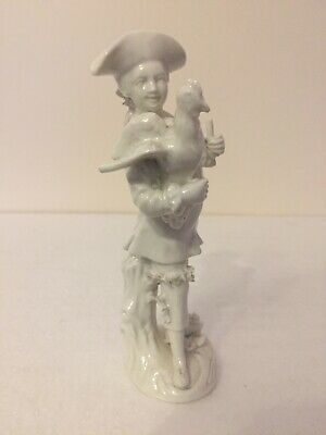 Mennecy Porcelain Figure Of A Man Holding A Stick And Cockerel C1770 • 399£