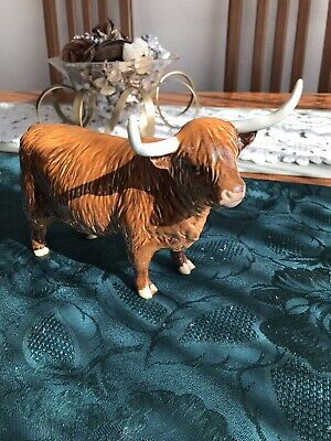 Beswick Horned Highland Cow Model 1740 Tan/Brown Gloss Finish Made In England!! • 74.95£