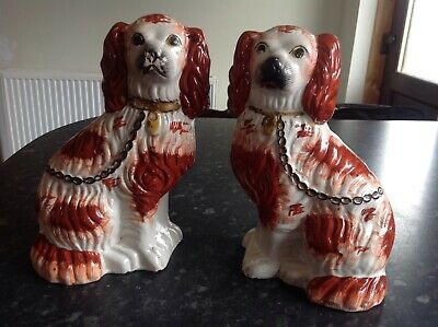 A Pair Of Antique King Charles Figurine 26cm (10 ) Tall • 5£