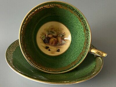 Ansley Orchard Gold Cup & Saucer. Mint Condition. English Bone China • 29.99£
