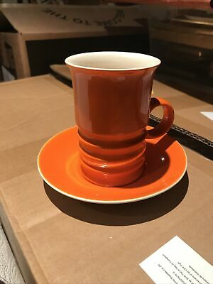 Classic Retro Orange Carlton Ware Wellington Cup And Saucer. Great Condition • 9.99£