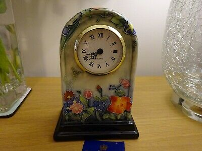Old Tupton Ware Floral Glazed Mantle Clock, Lovely Condition, Unmarked • 15£