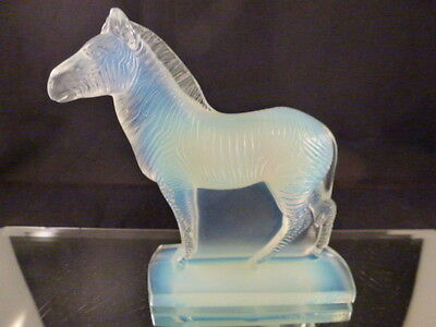 Vintage Sabino Glass  Zebra   France Deco Style  Never Used  Mint  • 303.30£